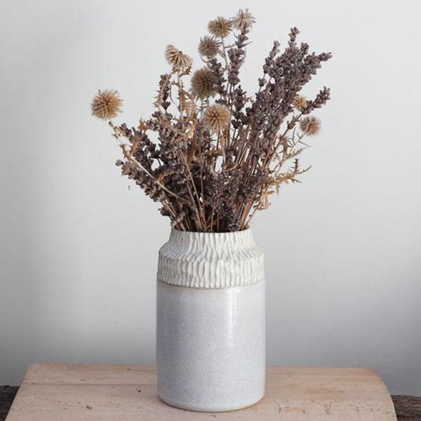 Vase bleu neige - Boutique Etsy Marion Marty Céramique