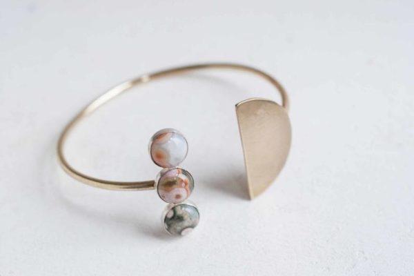 Bracelet Ocean Jasper - Boutique Etsy Mineralogy Design