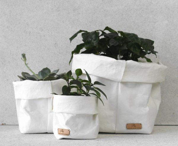 Sac en papier blanc, papier lavable - Boutique Etsy PAKecowood