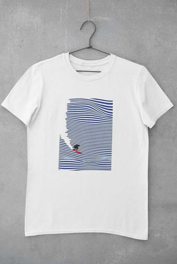 """T-shirt """"surfer sur une vague"""" - Boutique Etsy Qand P shop"""