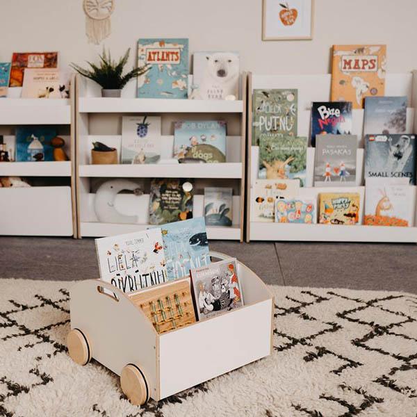 Charriot de livres - Boutique Etsy Tree Sounds