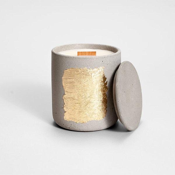 Bougie de soja dans pot en béton - Boutique Etsy ZOA concept