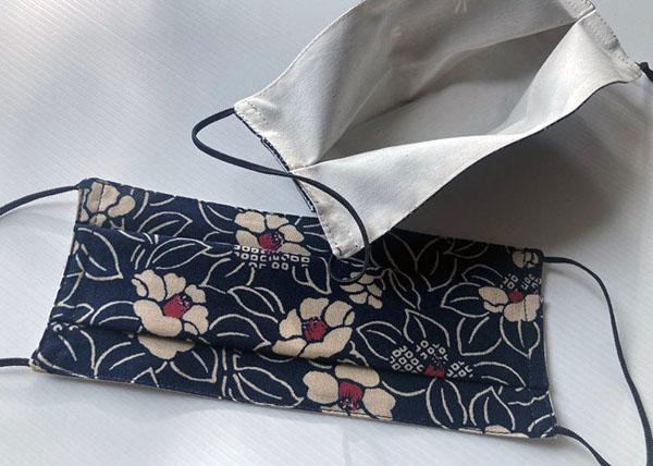 "Masque ""camelia"" en tissu japonais - Boutique Etsy By Zoon"