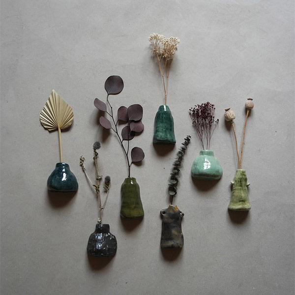 Soliflore ou vase mural en céramique - Boutique Etsy labimbeloteriedely