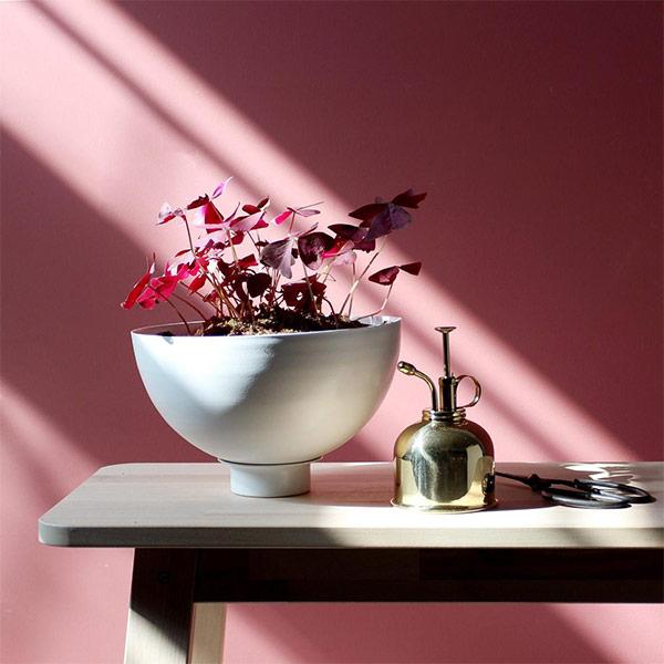 Jardinière en aluminium avec soucoupe - Boutique Etsy Loop Design Studio