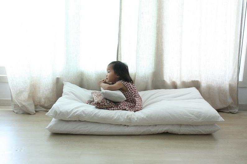 Matelas futon blanc en coton - Boutique Etsy Life in a day