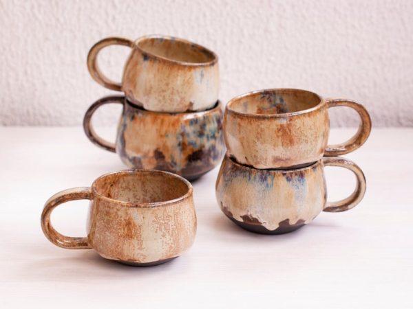 Petites tasses en céramique - Boutique Etsy ZZ poterie