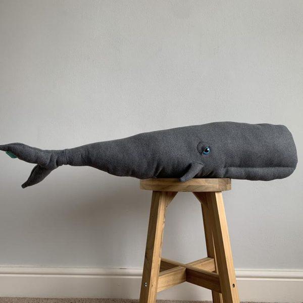 Peluche baleine grise - Boutique Esty Forest Feeling