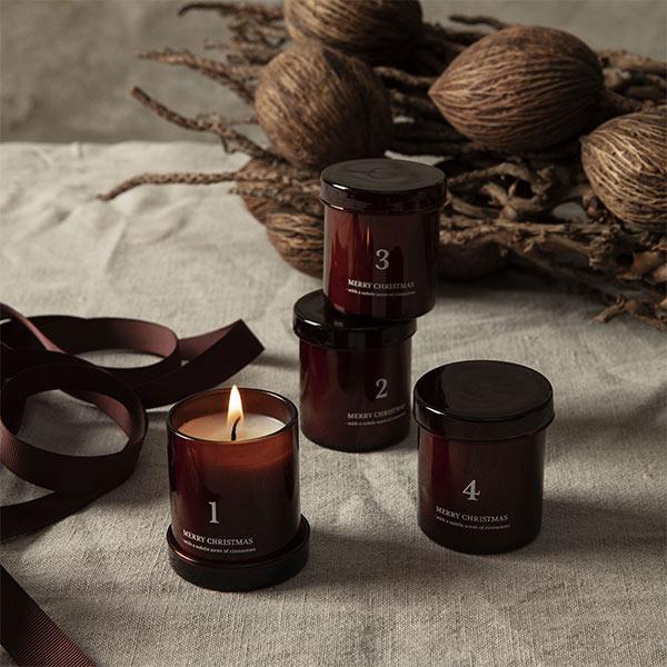 Bougie parfumée Cannelle / Calendrier de Noël - Set de 4 - Ferm Living