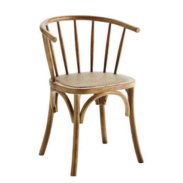 Chaise en bois et cannage - Madam Stoltz