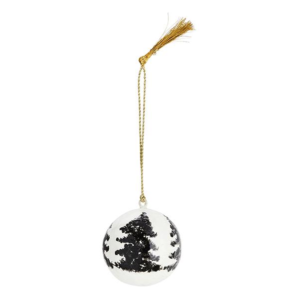 Boule de Noël en papier maché - 3 € - Madam Stoltz
