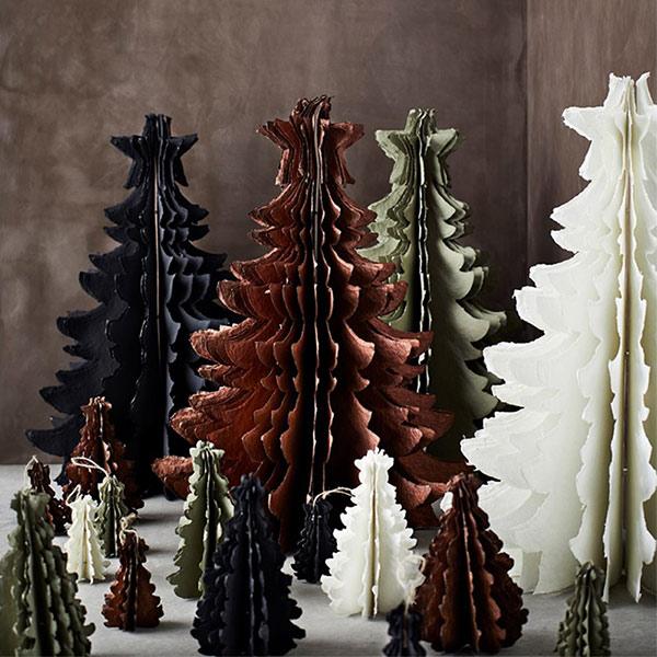 Grand Sapin décoratif en papier recyclé - 42 € - Madam Stoltz