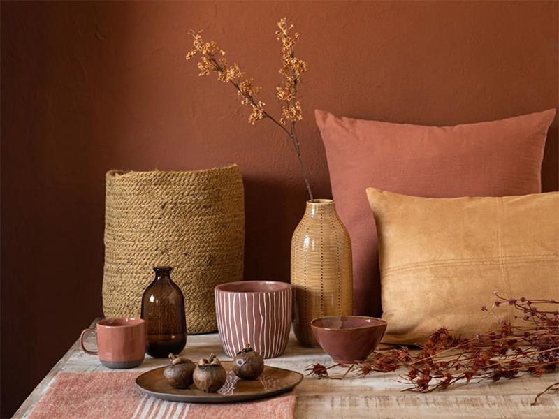 Réchauffer son intérieur avec de la déco // Harmoniser les couleurs et mettre des matières naturelles