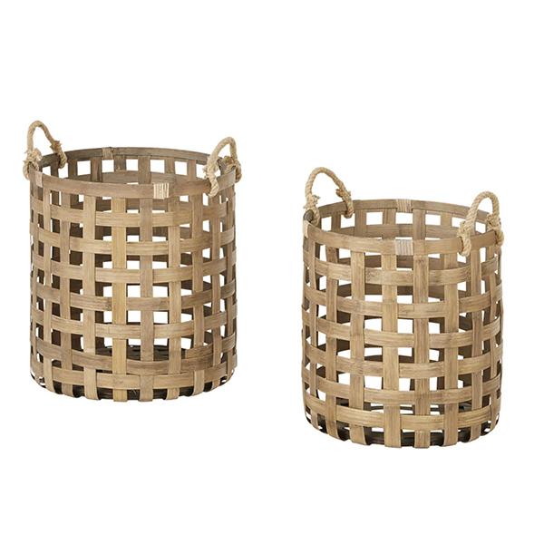 Paniers en bambou, Kansas - 74,99 € sur Maisons du Monde