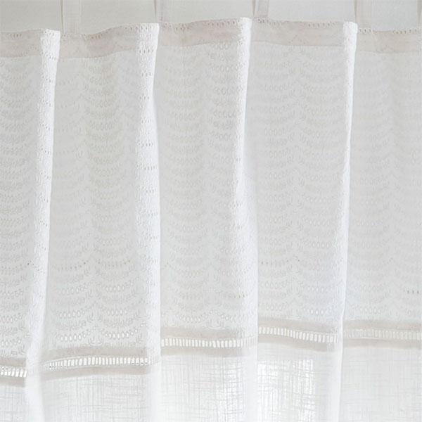 Rideau en coton écru et dentelle, Fercole - 44,99 € l'unité sur Maisons du Monde