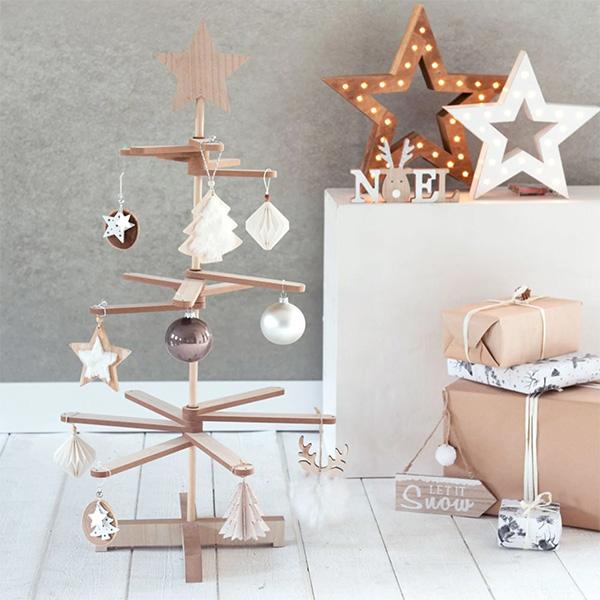 Sapin de Noël en bois sur Maisons du Monde