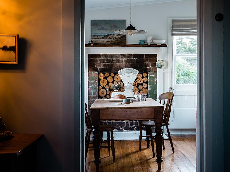 The Burrows, une chambre d'hôtes en Tasmanie // une cuisine rustique