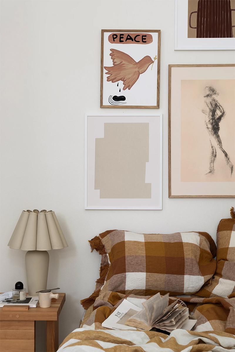 Wall of Art - Inspiration Tons terreux en hiver - Styling : Linnéa Salmén