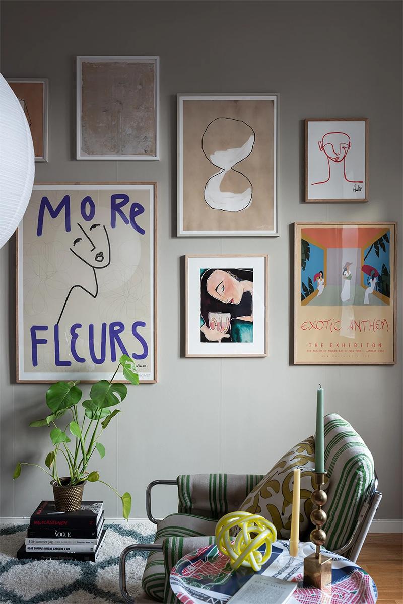 Wall of art : l'art de mettre en scène des affiches // Hello home Michaela Hamilton