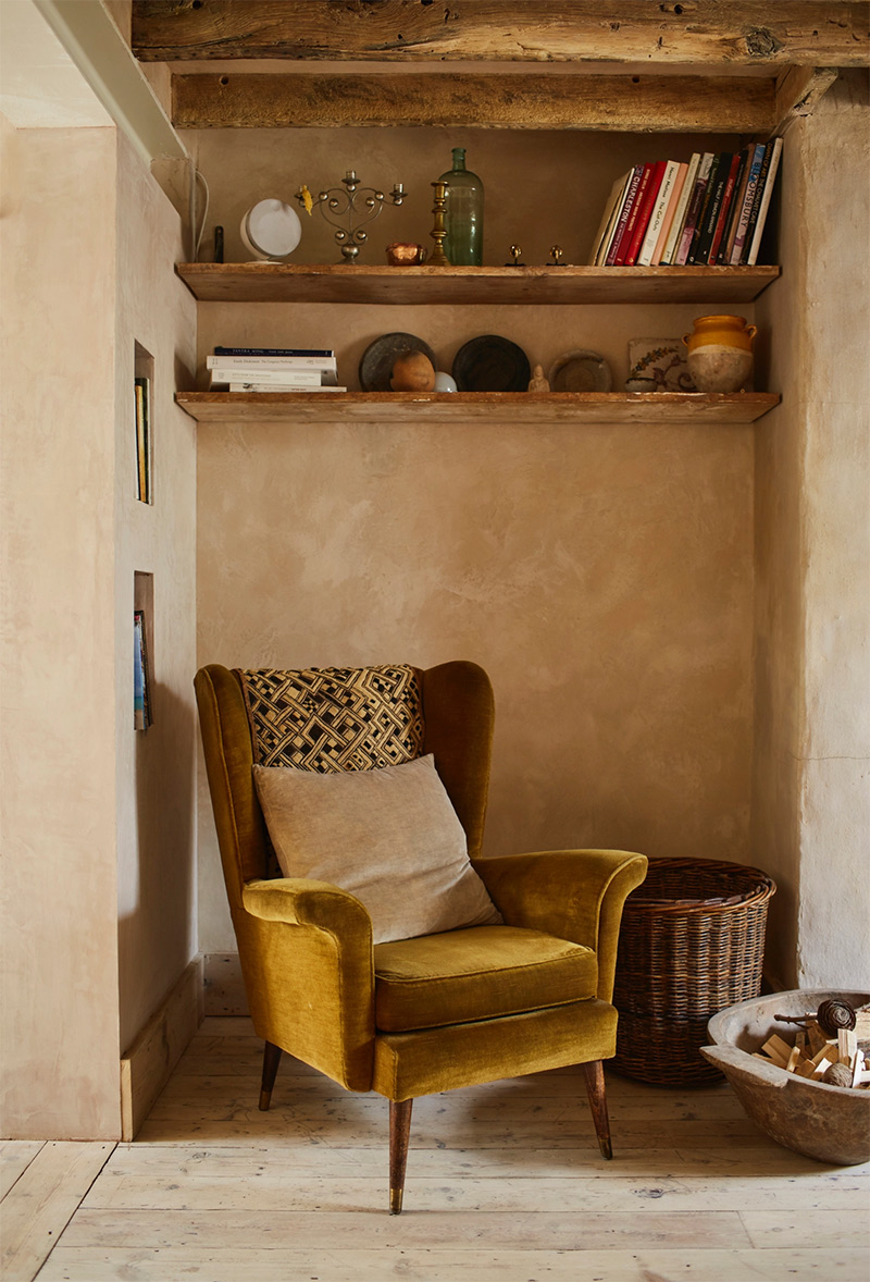 [ 3 décors imparfaits en blanc cassé et matériaux brut ] Des murs enduits pour un côté rustique, imparfait