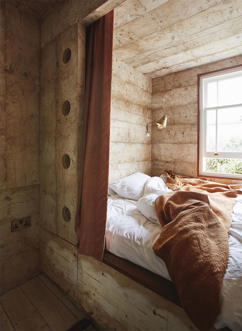 [ 3 décors imparfaits en blanc cassé et matériaux brut ] Une chambre comme une cabane
