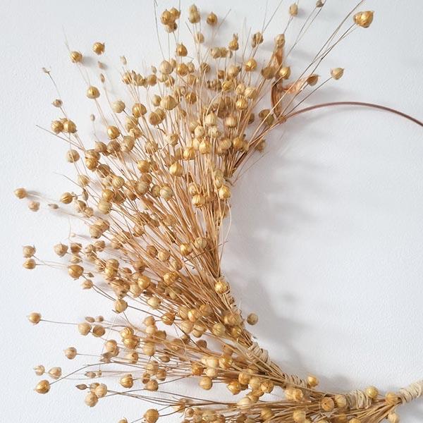 Couronne de Noël en fleurs séchées Atelier - Babaya sur Etsy