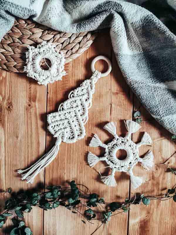 Etoiles de Noël en macramé - Minnen Manufaktur sur Etsy
