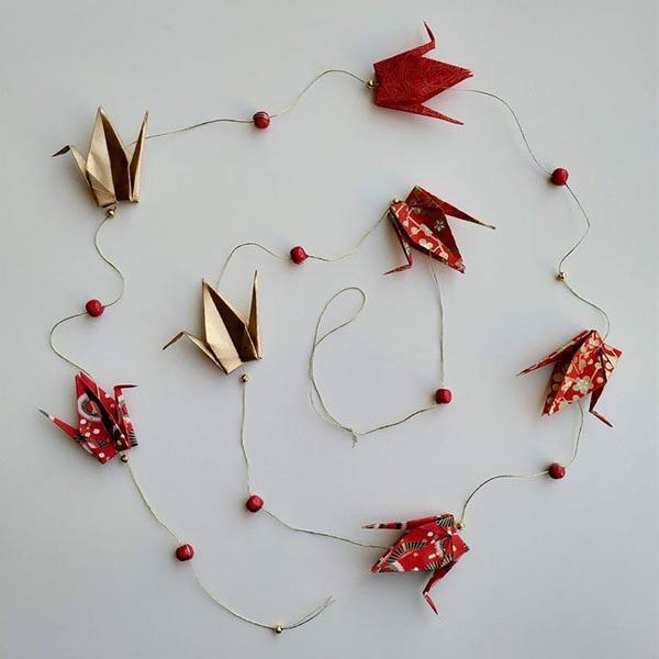 Guirlande de noël grues en origami - Petipli sur Etsy