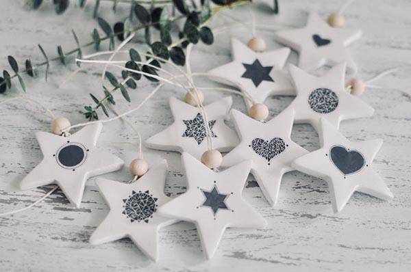 Etoiles de Noel en gris et blanc - Kema Ku Bcn sur Etsy