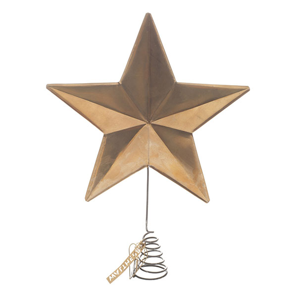 Pointe de sapin étoile en laiton - Walther & Co