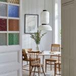 Un appartement ancien à Stockholm plein de charme