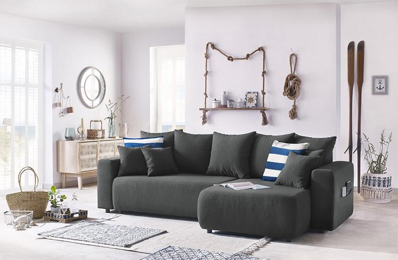 Comment meubler son salon avec harmonie ? // Canapé d'angle réversible, convertible, coffre, ENVY sur bobochicparis.com