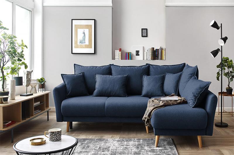 Comment meubler son salon avec harmonie ? // Canapé d'angle, convertible MIA sur bobochicparis.com