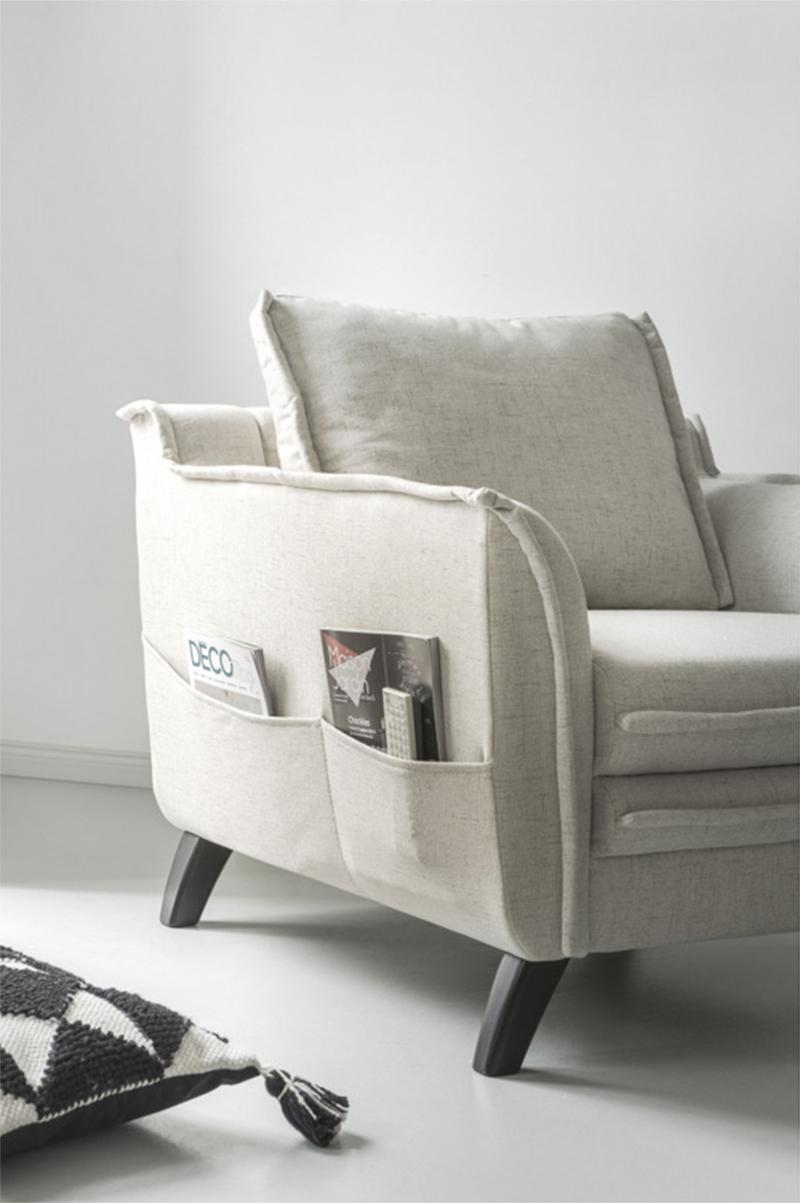 Comment meubler son salon avec harmonie ? // Fauteuil Boho qui se décline en version canapé sur bobochicparis.com