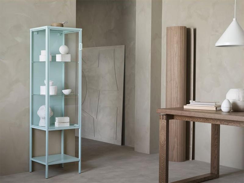 [ Nouveautés IKEA printemps 2021 ] Vitrine en métal bleu claire, RUDSTA