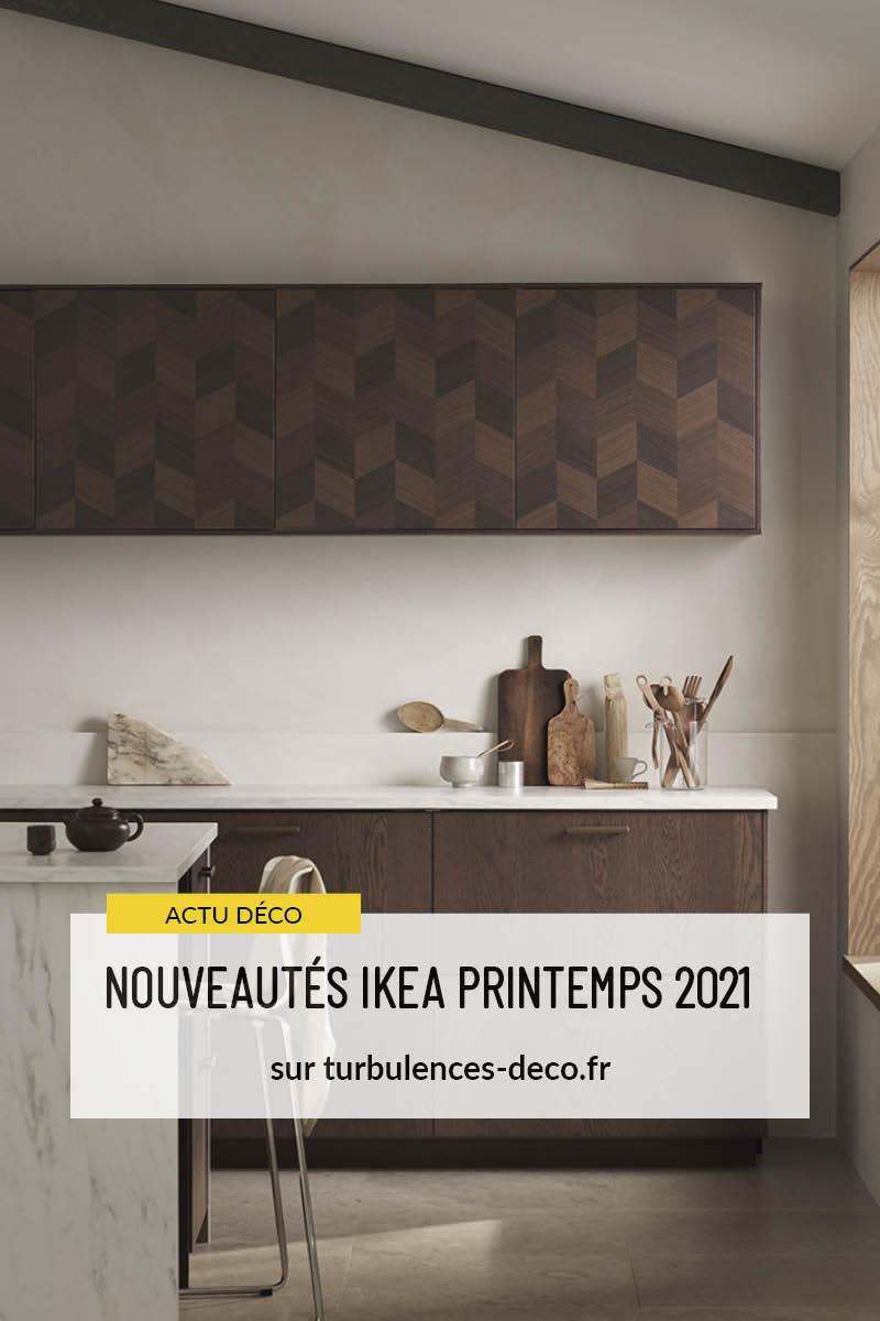 NOUVEAUTÉS IKEA PRINTEMPS 2021 - Focus sur les nouvelles façades de cuisine en bois foncé à retrouver sur Turbulences déco