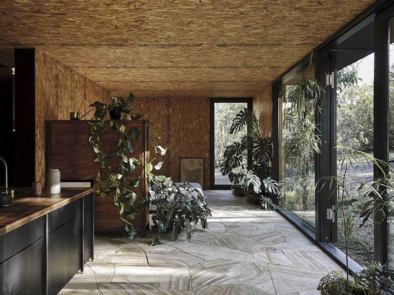 Casa Acton à Hobart, Tasmanie, maison en préfabriqué, construite avec un système de panneaux isolants structurels // Architecte : Archier - Josh FitzGerald