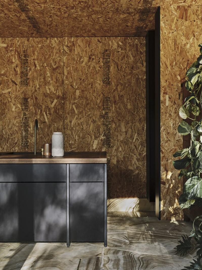 Casa Acton à Hobart, Tasmanie, architecte : Archier - Josh FitzGerald // Intérieur avec panneaux en OSB