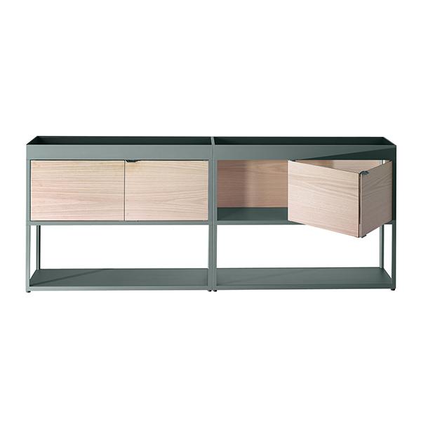 Buffet haut à caissons, New Order, design : Stefan Diez pour Hay