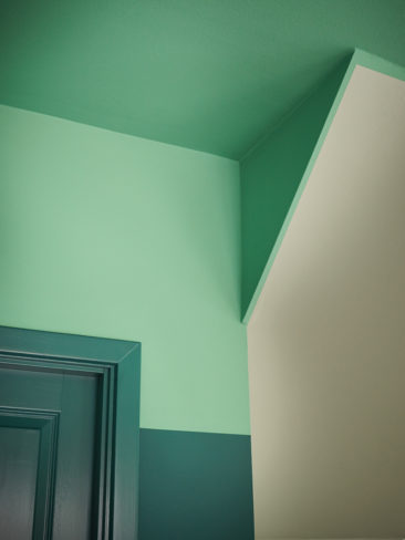 The Nordic Edit par Farrow and Ball // Murs : Mere Green n.219 - Plafond : Arsenic n.214