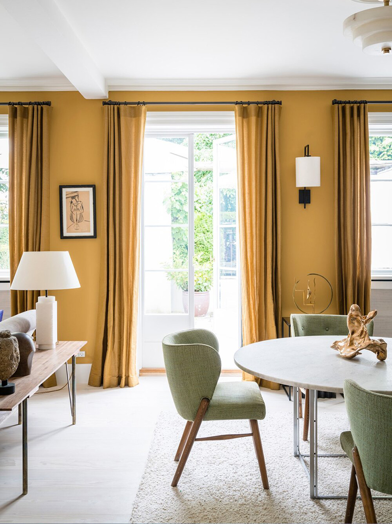 The Nordic Edit par Farrow and Ball // Murs : India Yellow No.66