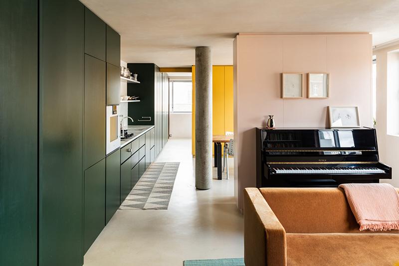 Appartement à l'aménagement tout en longueur - themodernhouse - Great Titchfield street