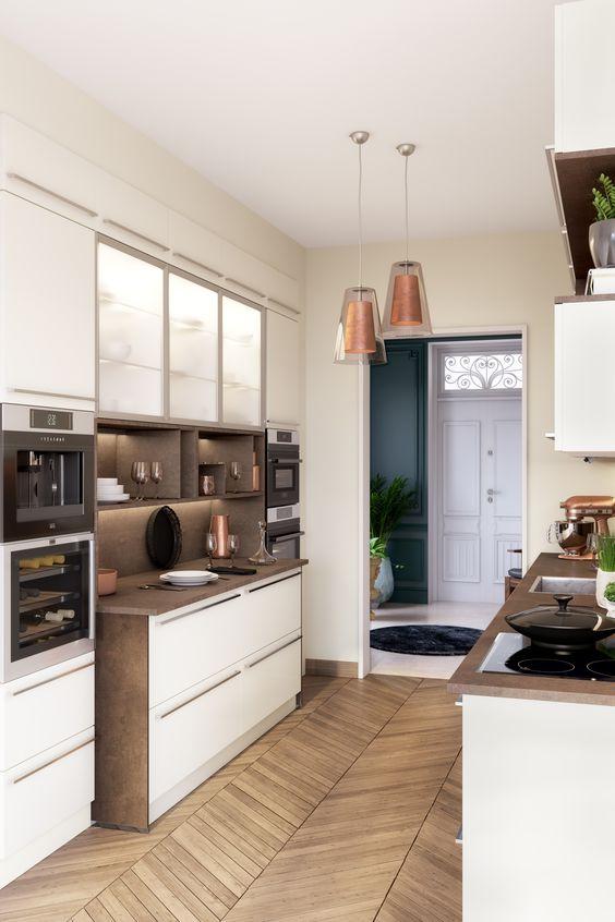 La cuisine en parallèle // Cuisine Plus, modèle Newtown