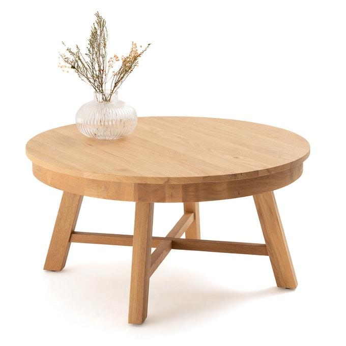 Table basse ronde chêne massif, Zebarn sur La redoute Intérieurs