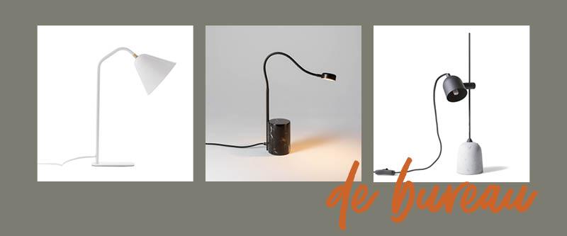 """Le choix de la lampe de chevet : la lampe de type """"bureau"""", avec une diffiseur dirigé"""