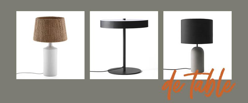 Le choix de la lampe de chevet : la lampe de table