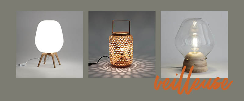 """Le choix du type de lampe de chevet : La lampe """"veilleuse"""" pour une ambiance feutrée dans la chambre"""
