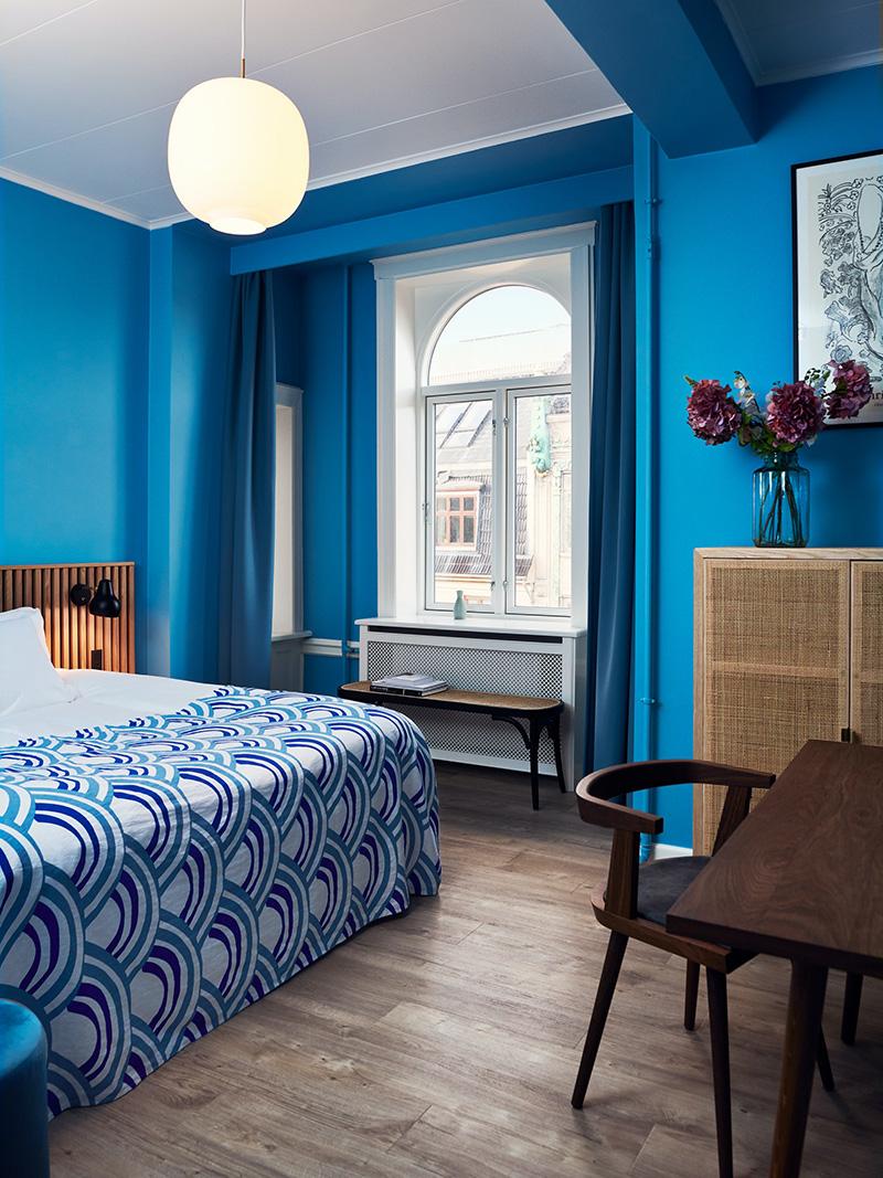 Décorez comme le Coco hotel à Copenhague ! // Superior room bleu