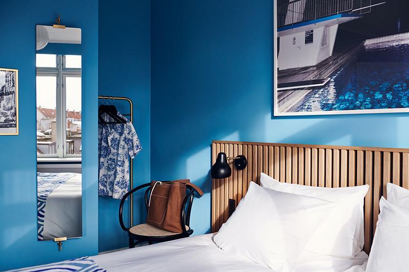 Décorez comme le Coco hotel Copenhague ! // Chambre bleu