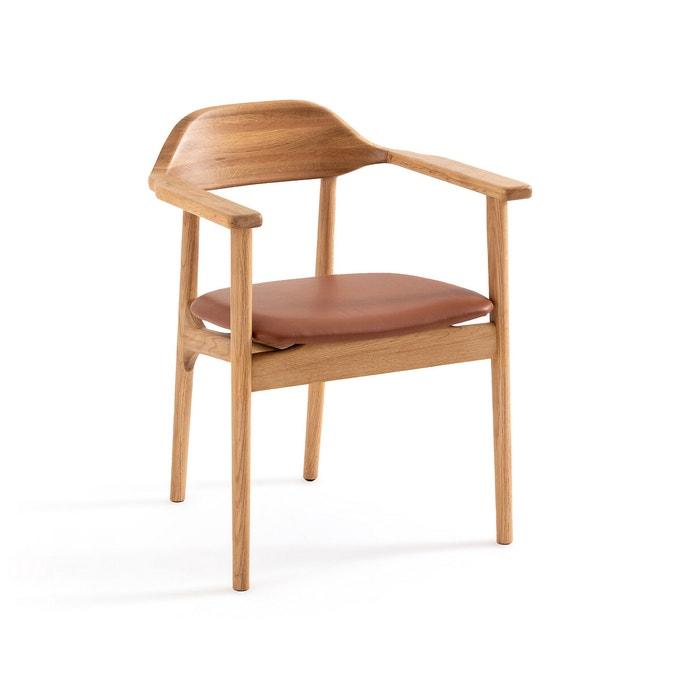 Catalogue Ampm été 2021 - Fauteuil de table en chêne et cuir, Arié